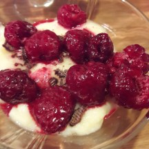 Raspberries on top