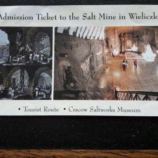Entrance ticket showing the Underground chapel