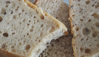Top two slices - sour dough loaf